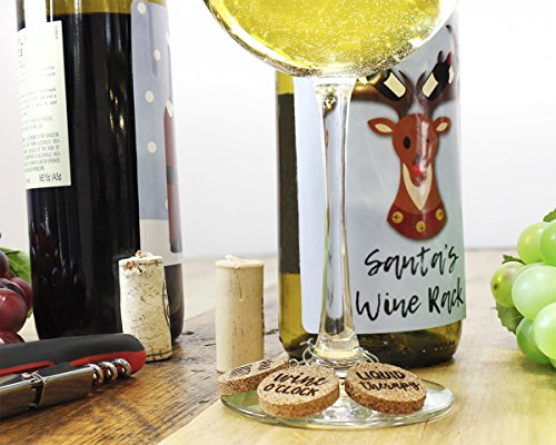 Wine Glass Charms - 12-Piece Wine Charm Drink Markers - Natural Cork Wine Lover Themed Wine Glass Tags Decorations for Parties, Gatherings, Reunions - 1 x 0.19 inches by Juvale (Image #2)