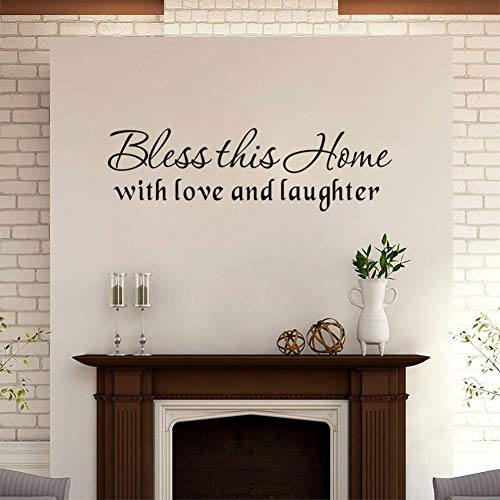 (Family Wall Sticker Inspirational Wall Decal,(Black) Vinyl Motivational Lettering Decal for Living Room or Bedroom Art Mural Decor-