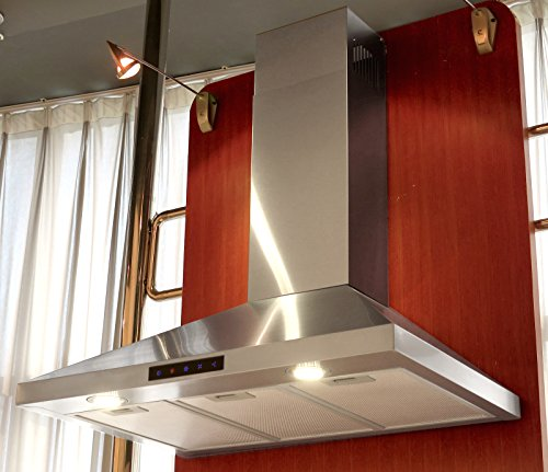 Kitchen Bath Collection STL75 LED Stainless Steel Wall Mounted Kitchen  Range Hood With High End LED Lights, ...