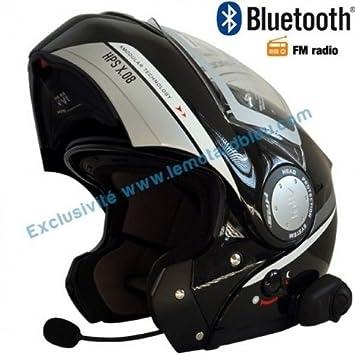 Amazonfr Casque Givi X08 Bluetooth Noir Brillant Avec Radio Fm Rds