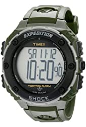 TIMEX T49951 / Timex Expedition Shock Resist XL Vibrating Alarm Watch - Green