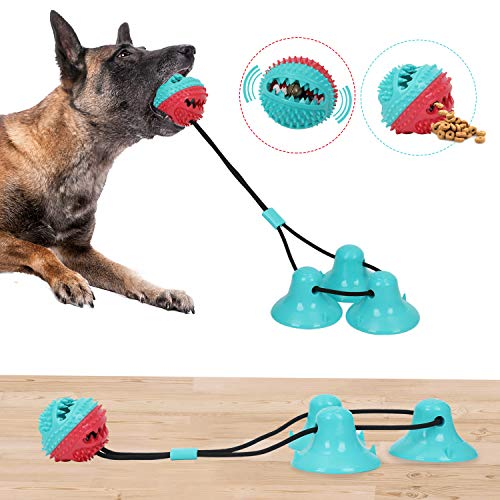 Suction Cup Dog Toy,Dog Chew Toys with 3 Suction Cups,Super Suction Firmly Grip Toys Interactive Toy Pet Molar Bite Toy…