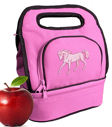 Horse Design Lunch Bag Cute Horse Theme Lunch Tote for Girls & ()