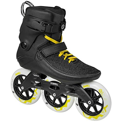 Powerslide Swell Black City 125mm 3 Wheel Inline Fitness Speed Skates (US 9 / EU 43) by Powerslide (Image #1)