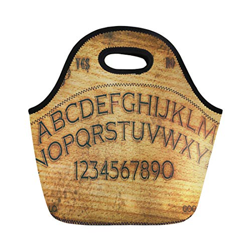 (Semtomn Lunch Tote Bag Seance Ouija Board Talking Spirit Ghost Old Contact Dead Reusable Neoprene Insulated Thermal Outdoor Picnic Lunchbox for Men)