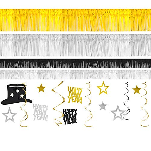 New Year Gold Foil Room Decorating Kit, 28 Ct. | Party Decoration