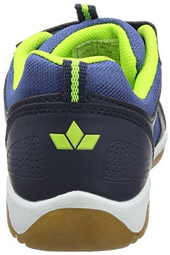 Lico Filou V, Zapatillas Deportivas Para Interior Unisex Niños Azul (Marine/lemon)