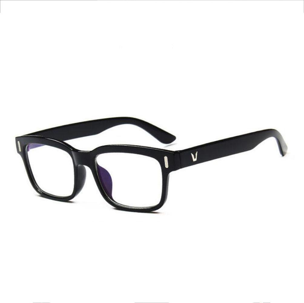 Z&YQ claro lente gafas aviador espejo miopía vintage marco protección contra la radiación gafas , bright black