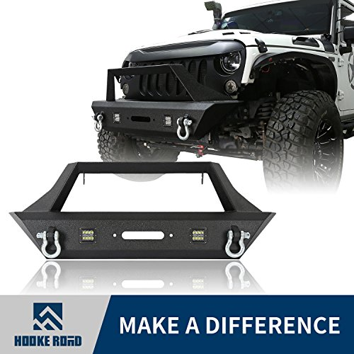 Goplus Front Bumper For 2007-2018 Jeep Wrangler JK With Hooks /& Fog Light Hole Front Bumper- Fog Light