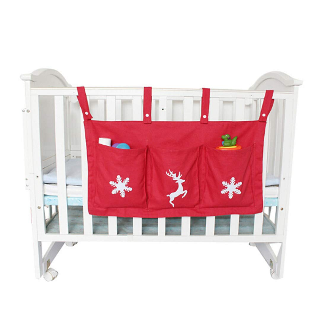 Baby Bed Hanging Storage Bag Diaper Baby Dirty Clothes Crib Organizer Toys Pouch