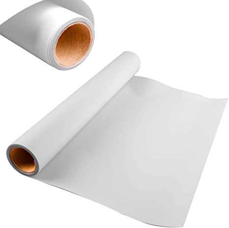 HTV Heat Transfer Vinyl Bundle 12 Inch x 15 Feet PU Material Roller Easy Weed Iron on Vinyl for T-Shirt,Hats Compatible with Cricut,Silhouette Cameo White-15ft