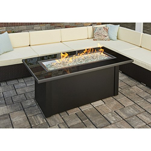 The Outdoor GreatRoom Company Fire Pit Table with Black Glass Top by The Outdoor GreatRoom Company