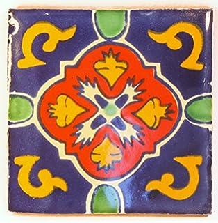 Pack de 90 Azulejos Mexicanos Artesanales de Talavera de 10.5cm