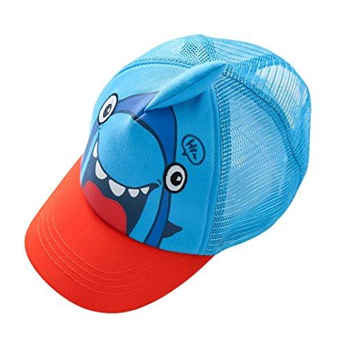 Kids Mesh Shark Baseball Cap Adjustable Snapback Sport