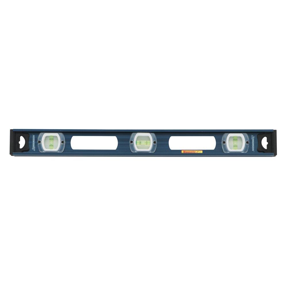 Swanson Tool IBL24M 24-Inch Magnetic Aluminum I-Beam Level (Blue)