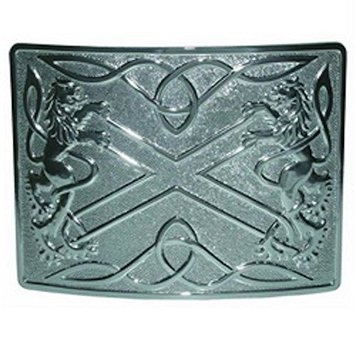 Scottish Highland Thistle Kilt Belt Buckle in Antique Fin...