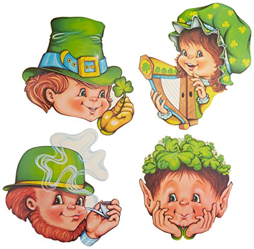 Beistle 33871 4-Pack St. Patrick Cutouts, 12-Inch]()