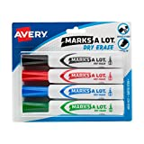 Avery Marks-A-Lot Dry Erase Markers, Assorted