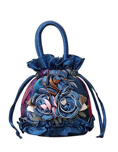 Nationale Wind-Handtasche gestickte bewegliche Segeltuch-Beutel-Minimünzen-Geldbeutel Königsblau