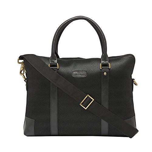 bagsrus Pro Executive Schwarz 8,6Liter Designer Kunstleder Laptop Messenger porfolio Travel Hand Tasche (eb105fbl)