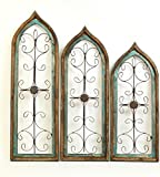 Architectural Gothic Windows Turquoise Set 3