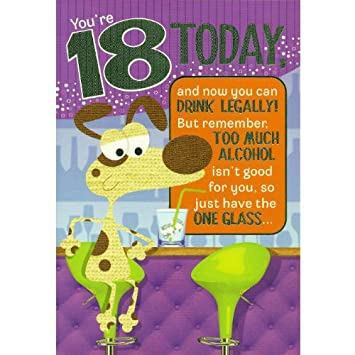 Words N Wishes Unisex You Re 18 Today Birthday Card Funny
