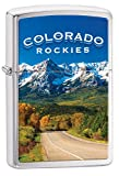 Colorado Rockies Zippo Outdoor Indoor Windproof Lighter Free Custom Personalized Engraved Message Permanent Lifetime Engraving on Backside