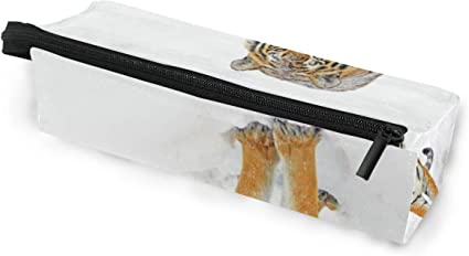 Estuche de bolsa de lápiz Gafas de sol Tiger Cosmetic Students Papelería Bolsa Cremallera para niñas Niños: Amazon.es: Oficina y papelería