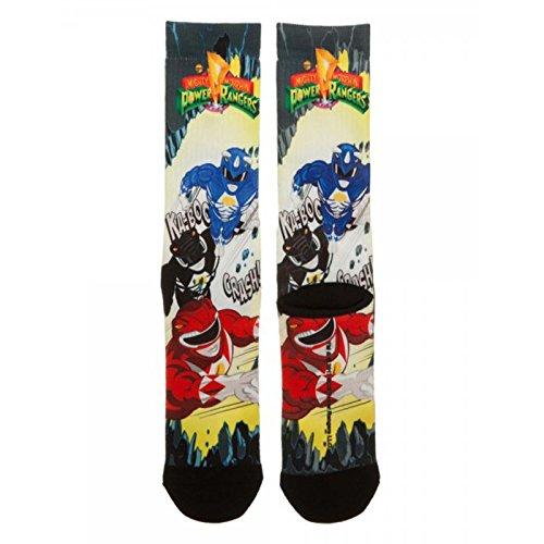 Bioworld Power Rangers Team 1 Pair of Crew Socks