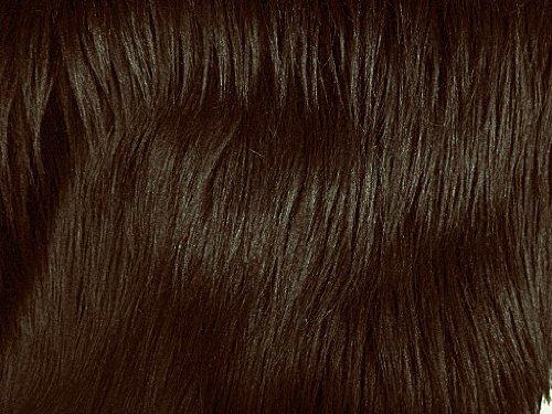 Faux Fur Luxury Shag Dark Brown 60 Inch Wide Fabric By the Yard (F.E.®)