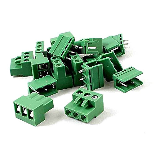 Pluggable Terminal (TOOGOO(R) 10 Pairs AC 300V 10A 5.08mm Pitch 3 Pin Screw Pluggable Terminal Block)