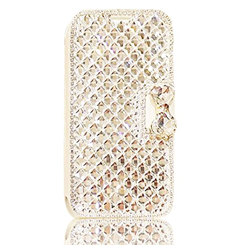 Brillante PU Cuero Carcasa para Huawei Mate 10 Pro, Vandot 3*1 Bling Snowflake Funda Diamond Glitter Brillo Folio Flip Case Cover Luxury Sparkly Cubierta Caso del Soporte Billetera con Cierre Magnétic ZPT 07