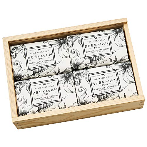 Goat Milk Set of Four 9oz Bar Soap Gift Box – Ylang Ylang Tuberose