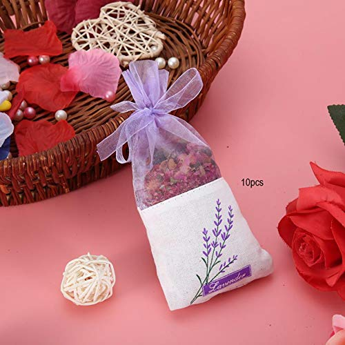 Hanging Flower Pouch 10Pcs Dried Flowers Hanging Aroma Bag Sachet Air Deodorant Wardrobe Aroma Bag Wardrobe Fragrance Sachets by Mehtah Store (Image #3)