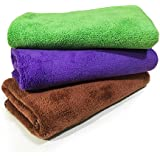 Dkii Professional Grade Premium Thickened Microfiber Car Cleaning Towels,Drying Towel, Set of 3,