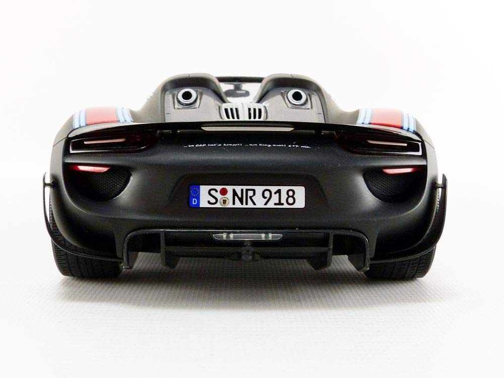 Amazon.com: 2015 Porsche Spyder 918 with Weissach Package #15 Matt Black with Martini Stripes Limited Edition to 300 Pieces Worldwide 1/18 Diecast Model Car ...