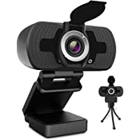Webcam with Microphone, ZIQIAN 1080P HD Webcam with Privacy Cover and Tripod, Streaming Computer Web Camera with 110…