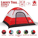 GigaTent Trailhead Dome 3-4 Person Camping Pop-Up Tent - Spacious, Lightweight, Heavy Duty - Weather and Flame Resistant Outdoor Hiking Gear - Fast, Easy Setup - 7'x7' Floor, 51' Height