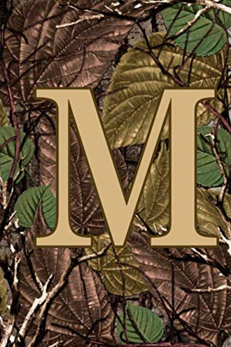 M: Letter M Monogram Camo Camouflage Hunting Notebook & Journal