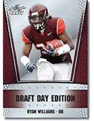 2011 Leaf NFL Draft Day Edition Football Card # 17 Ryan Williams RC - Arizona Cardinals (RC - Rookie Card) NFL Rookie Trading Card in Rookie Top Load Case