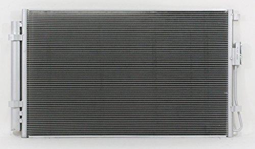 A-C Condenser - Pacific Best Inc For/Fit 4227 13-18 Hyundai Santa Fe Sport 2.4L 13-18 Santa Fe 3.3L V6 5MM With Receiver & Dryer
