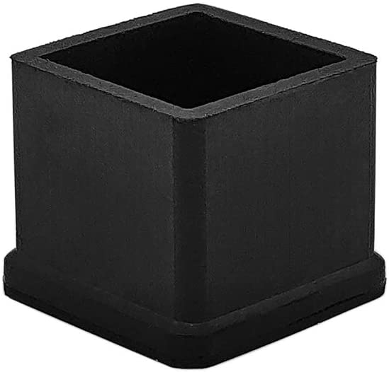 Flyshop Square Anti-Slip Rubber Leg Tips Chair Leg Caps Furniture Floor Protectors 3/4 Inch x 3/4 Inch (20 x 20mm) Black 10Pcs
