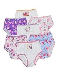 Peppa Pig Little Big Girls Bikini Panties Pack of 7 Underwear Size 4-6-8