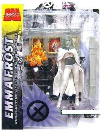 Marvel Select Emma Frost Figure Phasing Variant - X-Men White Queen Hellfire Club - Emma Frost White Queen