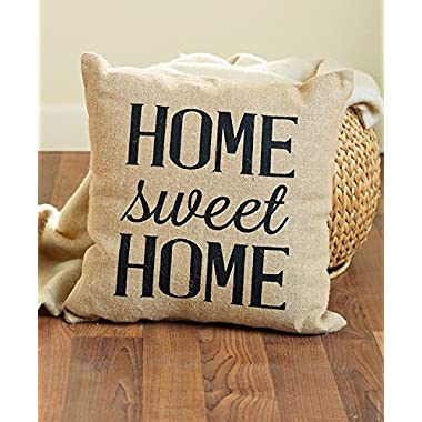 Home Sweet Home Vintage Burlap Pillow