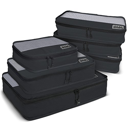 Dot&Dot 6pc Travel Packing Cubes - First Class Luggage Organizers