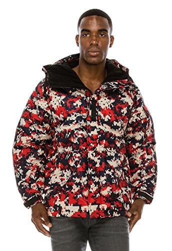 S20 Flap - Angel Cola Men's Camouflage Hooded Weatherproof Winter Jacket Type S20 L