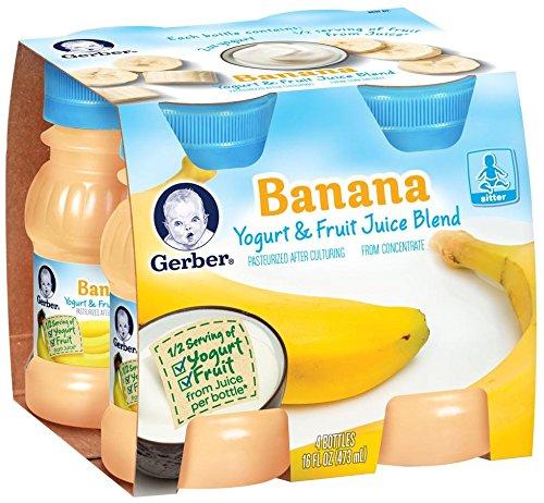 Gerber Yogurt & Fruit Juice - Banana - 4 fl oz - 4 pk