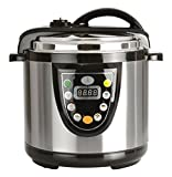 Berghoff Electric Pressure Cooker, 6.3 Qt, Black/Silver
