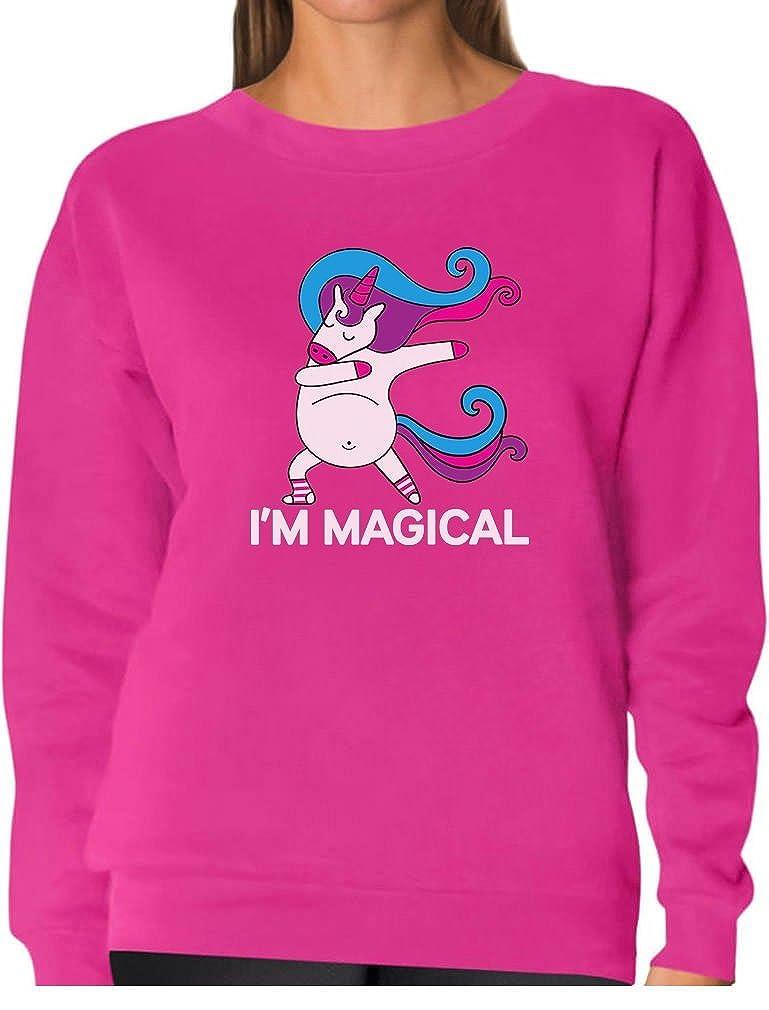 Unicorn Dab Im Magical Dabbing Unicorn Women Sweatshirt Tstars